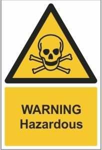 MED006 - Warning, Hazardous