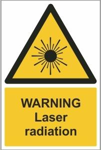 MED012 - Warning, Laser radiation