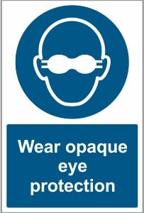 MED020 - Wear opaque eye protection