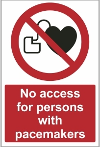 MED033 - No access for persons with pacemakers