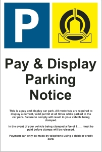 OFF042-Pay-&-display-parking notice