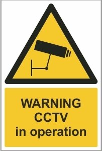 SEC002 - Warning, CCTV in operation