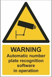 SEC004 - Warning, Automatic number plate recognition software