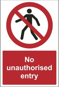 SEC012 - No unauthorised entry