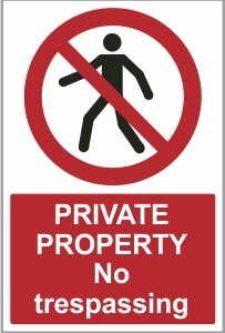 SEC014 - Private property, No trespassing
