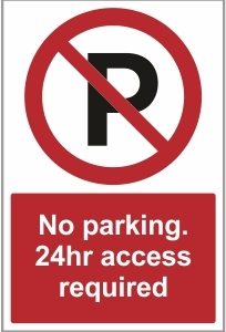 SEC016 - No parking, 24hr access required