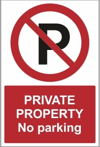 SEC017 - Private property, No parking