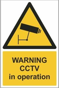 SEC002 - Warning, CCTV in operation