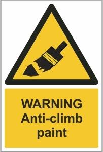 SEC006 - Warning, Anti-climb spikes