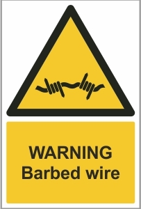 SEC007 - Warning, Barbed wire