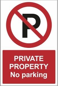 SEC017 - Private property, No parking