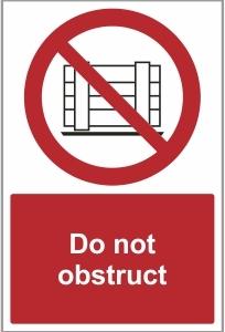 SEC018 - Do not obstruct