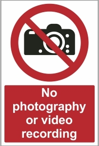 SEC022 - No photography or video recording