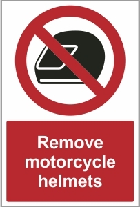 SEC023 - Remove motorcycle helmets
