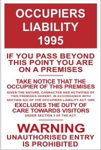 SEC030 - Occupiers liability
