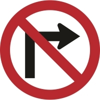 RUS012 - No right turn