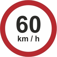 RUS042 - 60kmh speed limit