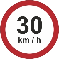RUS044 - 30kmh speed limit