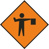 WK061 - Flagman ahead