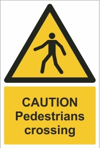 SCH003 - Caution, Pedestrians crossings