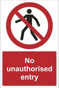 SCH012 - No unauthorised entry