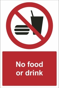 SCH016 - No food or drink