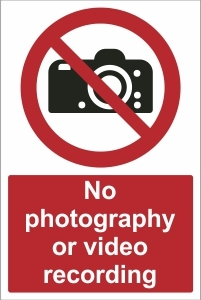 SCH017 - No photography or video recording