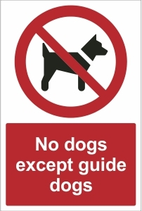 SCH018 - No dogs except guide dogs