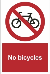 SCH019 - No bicycles