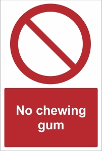 SCH023 - No chewing gum