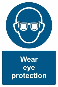 SCH025 - Wear eye protection