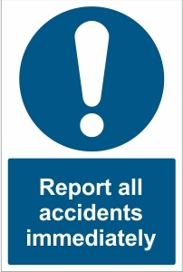 SCH033 - Report all accidents immediately