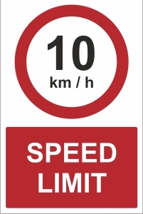 SCH041 - 10kmh speed limit