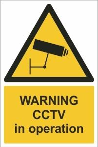 SCH002 - Warning, CCTV in operation