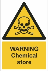 SCH006 - Warning, Chemical store