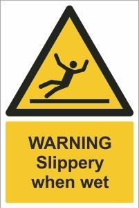 SCH008 - Warning, Slippery when wet