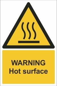 SCH011 - Warning, Hot surface