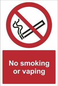 SCH014 - No smoking or vaping