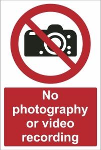 SCH017 - No photography or video recording