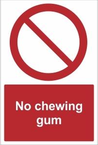 SCH023 - No chewing gum