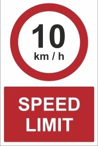 SCH041 - 10kmh speed limit