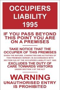 SCH043 - Occupiers liability