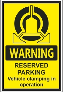 CAR018 - Reserved parking, Vehicle clamping in operation