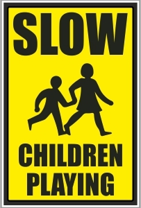 CAR025 - Slow, Children playing