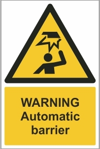 CAR029 - Warning, Automatic barrier