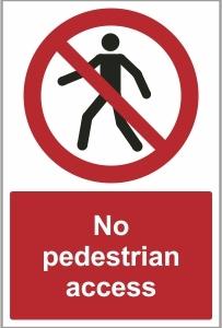 CAR032 - No pedestrian access