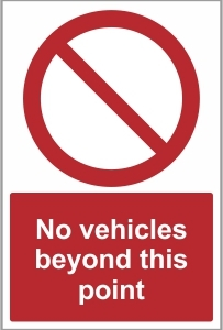 CAR034 - No vehicles beyond this point