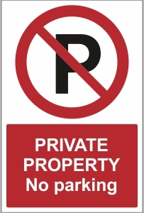 CAR015 - Private property. No parking