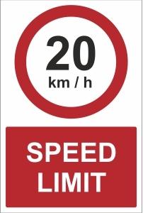 CAR023 - 20 kmh speed limit