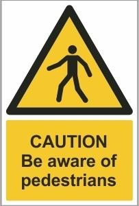 CAR026 - Caution, Be aware of pedestrians
